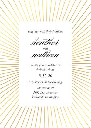 Fanned Line Frame Wedding
