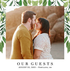 Greenery Wedding Guestbook