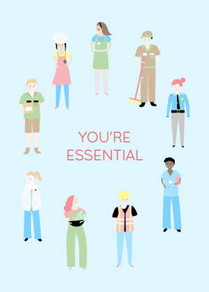 You're Essential Worker Greeting Card