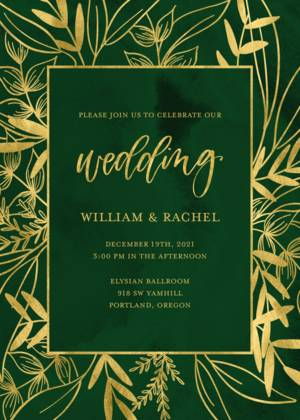 Emerald Wedding Suite by the Pigeon Letters