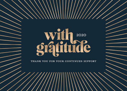 With Gratitude Business Holiday