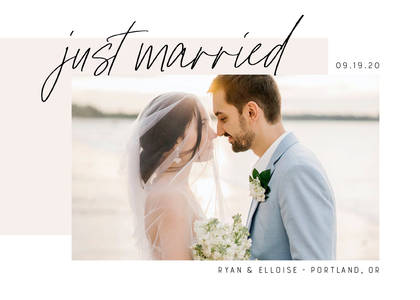 Just Married Brush Script