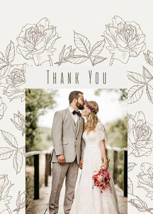 Wedding Thank You Photo Wedding Thank You Cards Wedding Thank You Card Photo Wedding Thank You Printed 4.25x5.5 Printed Thank Yous