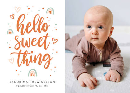 Hello Sweet Thing Baby Announcement