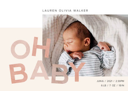 Oh Baby Fun Type Announcement
