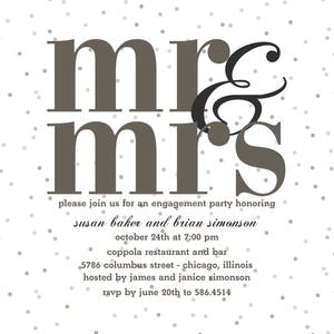 Mr. & Mrs. Party