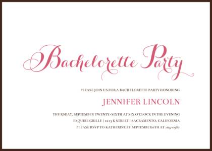 Simple Bachelorette