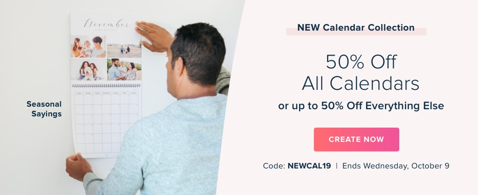 50% Off Calendars or up to 50% Off Everything Else