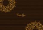 Tribal Monogram Thank You