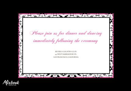 Hot Pink Damask Reception