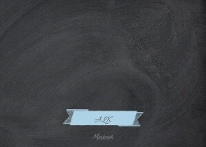 Blue Chalked Baby Banner