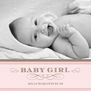 photo album baby girl