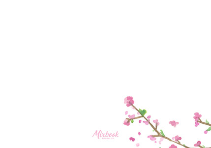 Cherry Blossoms Response Card