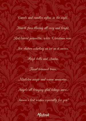 Red Damask Collage