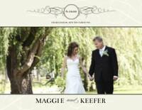 Black and Cream Wedding Flourishes
