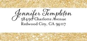 Glitter Address Label