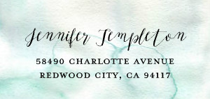Watercolor Address Label
