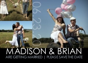Modern Save the Date Collage