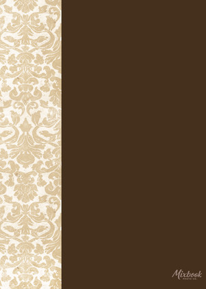 Chocolate and Gold Damask