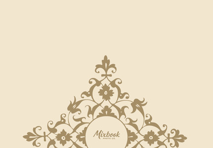 Golden Cream Damask Thank You