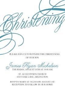 Baptism Christening Invitations Christening Script By Mixbook