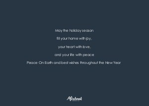Transparent Happy Holidays