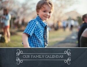 Chalked Calendar