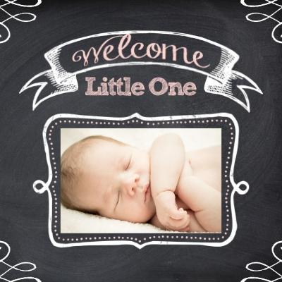 Chalkboard Baby Girl