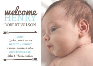 Photo Birth Announcements - Arrow Baby Boy Announcement by ...