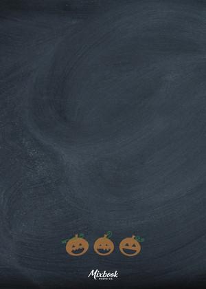 Chalked Pumpkins