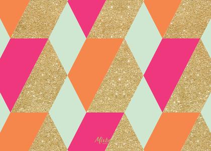 Glittered Geometrics