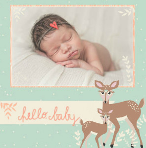 Woodland Baby Girl by Bonnie Christine