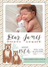 Baby Announcements by Bonnie Christine (Boy)