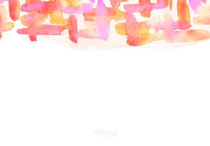 Bright Watercolored Strokes