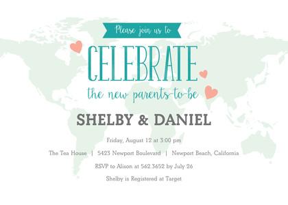 Worldly Baby Shower Invitation