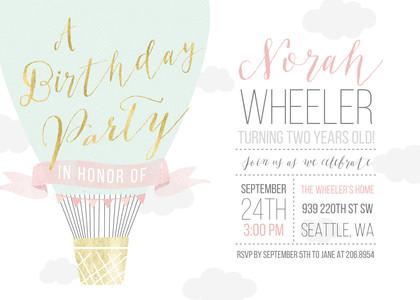 Sweet Air Balloon Birthday