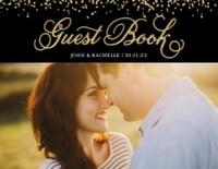Glittered Guest Book