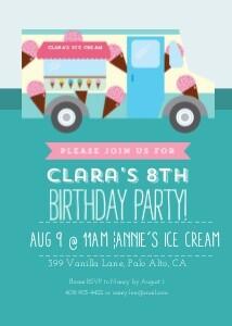 Ice Cream Truck Party