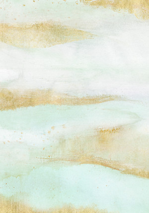 Abstract Mint & Gold