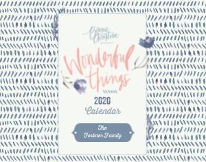 Wonderful Things Calendar by Bonnie Christine