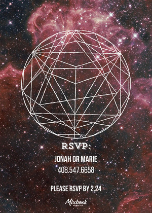 Galaxy Birthday Invitation