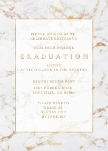 Marble Grad Invite