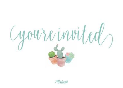 Succulent Invitation