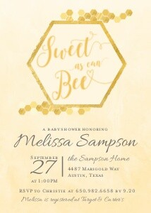 Sweet Bee Baby Shower