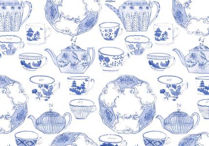 Tea Garden by Molly Hatch