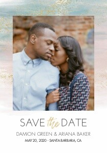 Painted Save the Date