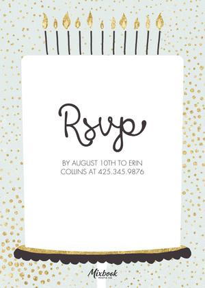 Birthday Cake Typography
