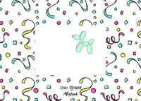Balloon Animals & Confetti by Cozy Reverie