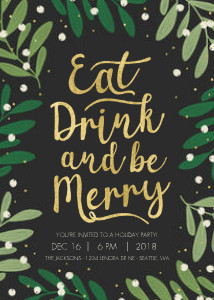 Eat, Drink, and Be Merry