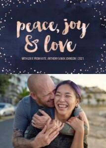 Watercolor Peace, Joy & Love